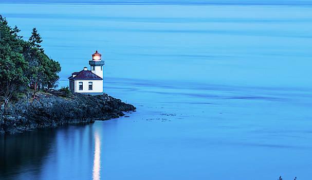 Lime kiln Lighthouse At Night by Jordan Hill