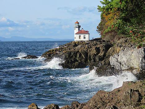 Lime Kiln Lighthouse - San Juan Island by Marie Jamieson