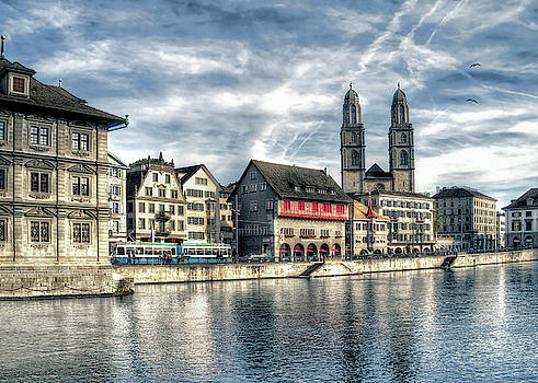 Limmat Riverfront by Jim Hill