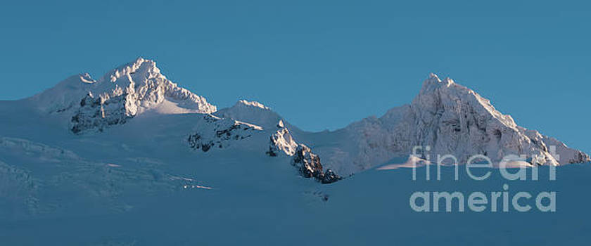 Lincoln and Colefax Peaks Mount Baker Aerial by Mike Reid