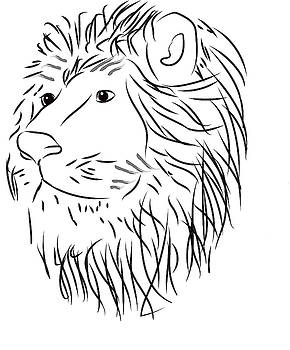 Lion Doodle 2 by Cathy Harper