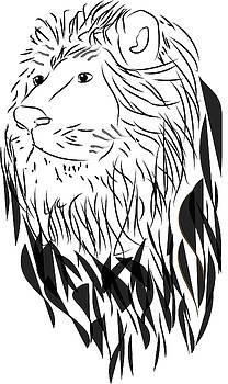 Lion Doodle by Cathy Harper