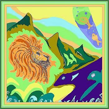 Lion in the mountain by Julia Woodman