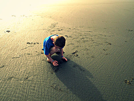 Little Boy on the Beach by Micki Findlay
