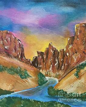 Little Colorado River Confluence  by Ariana Dagan