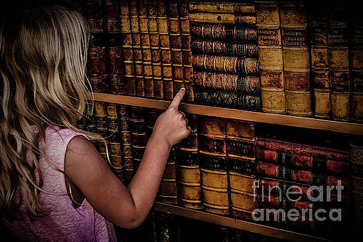 Little Girl in the Library by Ellie Asha Photography