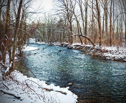 Little Gunpowder Falls Pano Snow by Brian Wallace