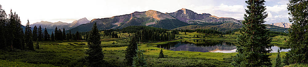 Little Molas Lake Panoramic by Howard Holley