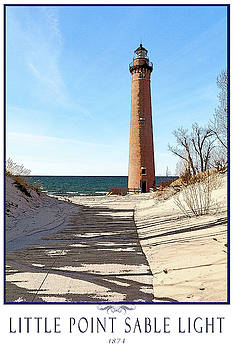Little Point Sable Light Poster by Fran Riley