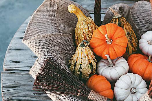 Little Pumpkins In A Basket by Evgeniya Lystsova