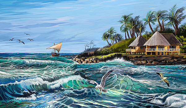 Little Resort by the Sea by Anthony Mwangi
