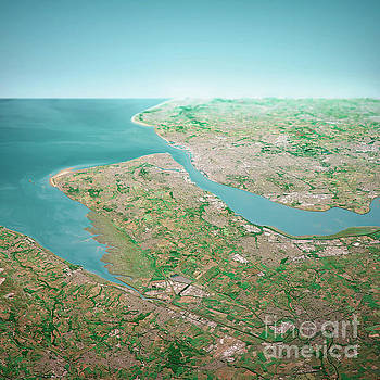Frank Ramspott - Liverpool UK 3D Render Aerial Horizon View From South Jun 2018