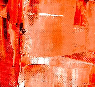 Living Coral Spectrum Abstract by VIVA Anderson