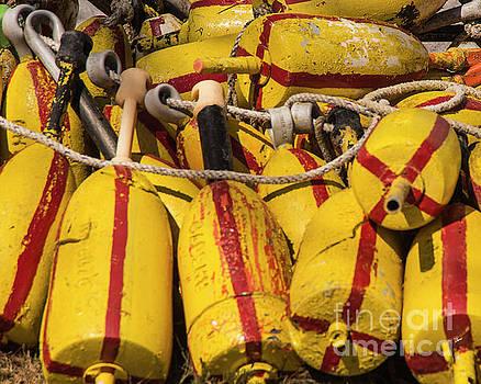 Lobster Buoys by Alana Ranney