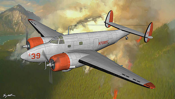 Lockheed PV-1 Ventura Fire Bomer - Oil by Tommy Anderson
