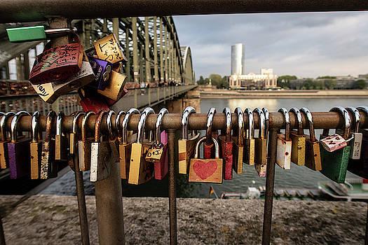 Locks of Love in Cologne Germany by Mary Lee Dereske