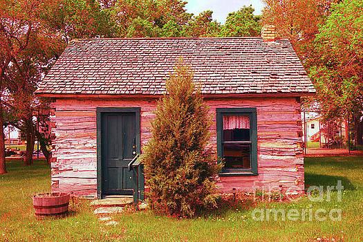 Log cabin by Jeff Swan