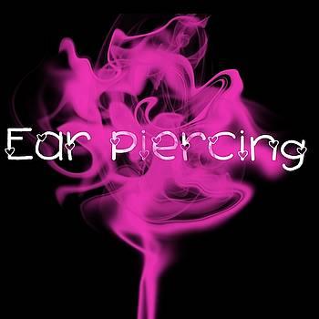 Ear Piercing Tattoo Logo Art 13 by Shirley Anderson