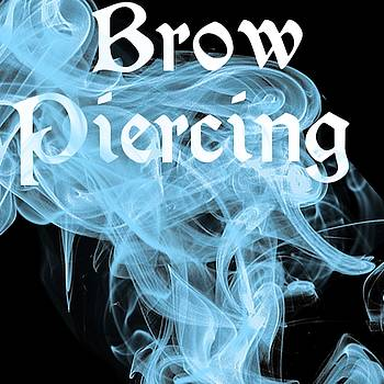 Brow Piercing Tattoo Logo Art 16 by Shirley Anderson