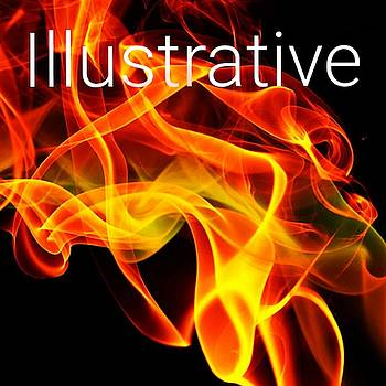 Illustrative Flame Tattoo Logo Art 27 by Shirley Anderson