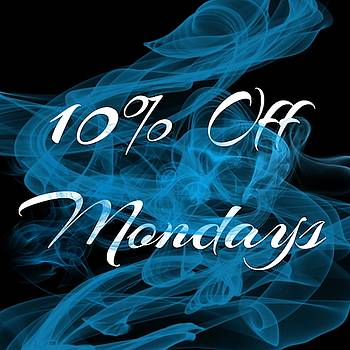 10 Percent Off Mondays Tattoo Logo Art 29 by Shirley Anderson