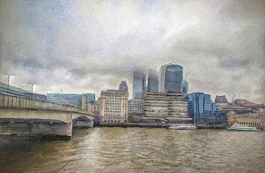 London Bridge a Painterly Perspective by Zahra Majid
