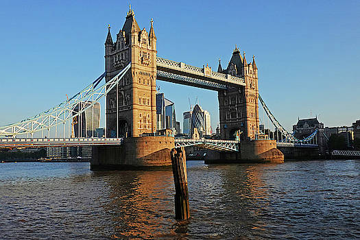 Toby McGuire - London England Tower Bridge and Skyline Blue Sky
