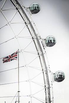 London Eye and Union Jack by Arnaldo Tarsetti