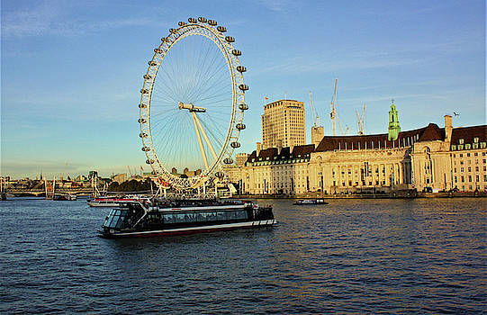 London Eye Skyline - London England  by Deborah Kinisky