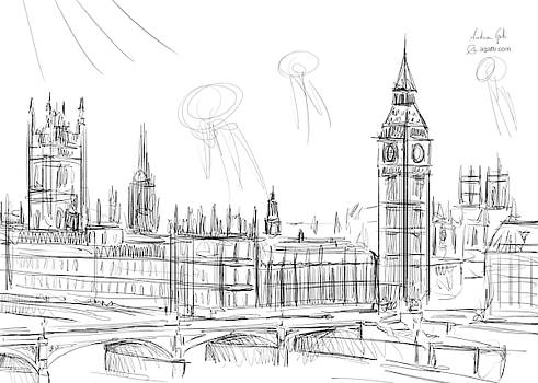 Andrea Gatti - London landscape drawing
