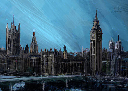Andrea Gatti - London landscape painting