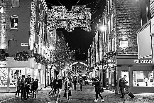Toby McGuire - London Nightlife Carnaby Street London UK United Kingdom Black and White
