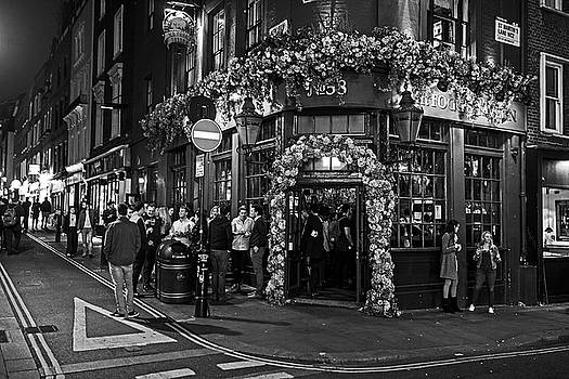 Toby McGuire - London Nightlife Covent Garden London UK Black and White