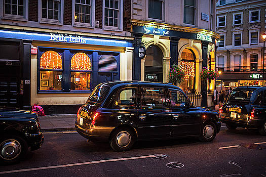 Toby McGuire - London Taxis at Night London UK United Kingdom