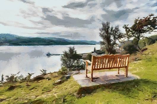 Lonely bench by Sergey Simanovsky