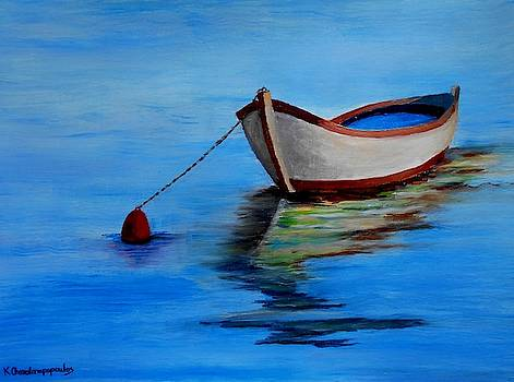 Lonely fishing boat by Konstantinos Charalampopoulos