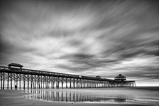 Long Exposure Monochrome of the Edwin S. Taylor Folly Beach Pier - Charleston South Carolina by Silvio Ligutti