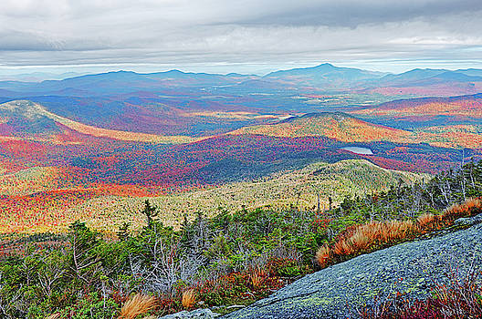 Toby McGuire - Long Shadows in the Valley Autumn Foliage Upstate NY New York from Wright Mountain Adirondacks