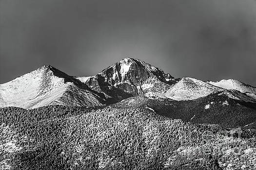 Longs Peak Morning Snow by Jon Burch Photography