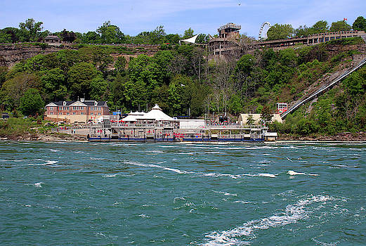 Looking at the Canadian Side from the Maid of the Mist Boat by Doc Braham