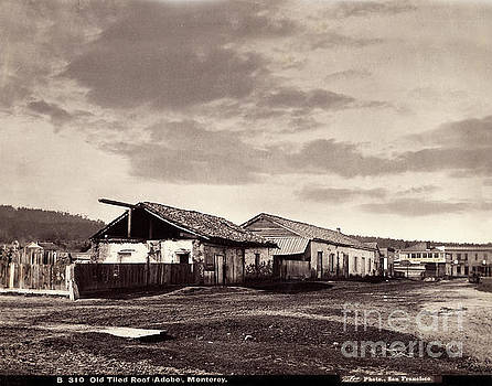 California Views Archives Mr Pat Hathaway Archives - Looking down Munras Ave. at the Cooper Molera Adobe and the Alva