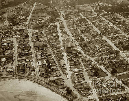 California Views Archives Mr Pat Hathaway Archives - Looking down on the Intersection of Alvarado And Calle Principal St.s, Monterey