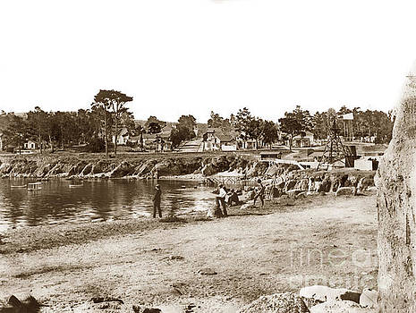 California Views Archives Mr Pat Hathaway Archives - Looking over Lovers Point Beach up Forest Avenue Circa 1900