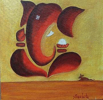 Lord Ganesha Peaceful and Calm by Suchita Pawar