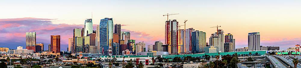 Los Angeles Skyline Sunset - Panorama by Gene Parks
