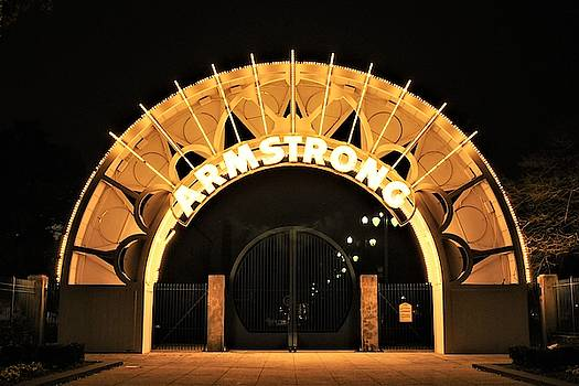 Louis Armstrong Park Entrance In New Orleans by Michael Hoard