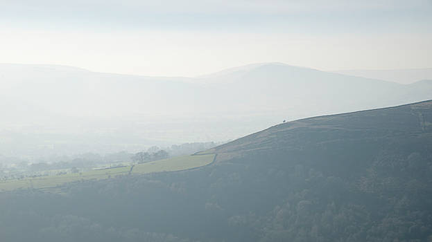 Lovely landscape image of the Peak District in England on a hazy by Matthew Gibson