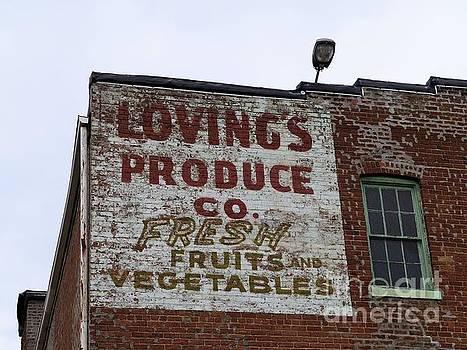 Loving's Produce Co. Building Sign by Ausra Huntington nee Paulauskaite