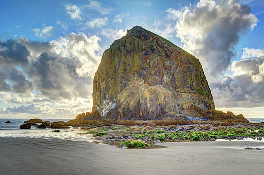 Low Tide at Haystack Rock HDR by Marv Vandehey