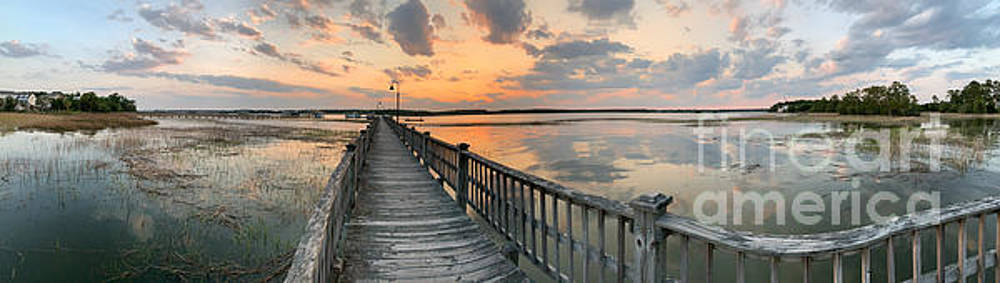 Lowcountry Sunset - Rivertowne on the Wando Panorama by Dale Powell